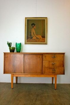 Stylish Mid-Century Danish Style Sideboard with Sliding Doors Retro Vintage Vintage Colors, Retro Vintage, Danish Style, Funky Furniture, Love Home, Tv Unit, Living Room Interior, Sliding Doors, Sideboard