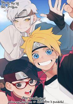 Mitsuki, Boruto, and Sarada Naruto Shippuden, Sarada Y Sasuke, Sarada E Boruto, Naruhina, Inojin, Shikadai, Sasunaru, Team 7, Wallpapers Naruto