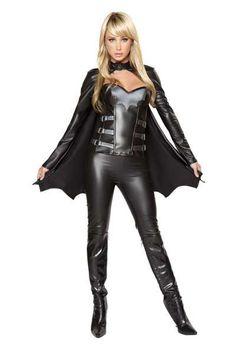 #FashionVault #roma #Women #Costumes - Check this : Black 3pc. Sexy Bat Warrior Costume for $109.99 USD