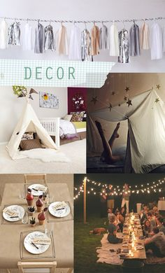 Decor ideas for a camp party