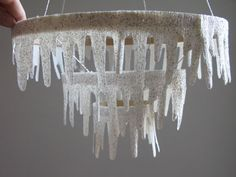 Diy: Icicle Chandelier : katyelliott.com Paint your hoops first and you might even consider a stiffener
