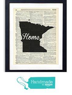 Minnesota Home Script Upcycled Vintage Dictionary Art Print 8x10 from Vintage Book Art Co. http://www.amazon.com/dp/B015X4IV4O/ref=hnd_sw_r_pi_dp_e6Nwwb1G4CCSD #handmadeatamazon