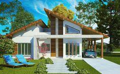 O projeto da casa Porto Velho é uma planta de casa pronta para construir. Casa de campo com 4 quartos sendo 1 suíte e 2 vagas de garagem. Veja as imagens: