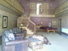 Inside one of their motels/cow town