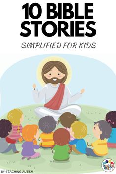 Are you looking for simplified and engaging bible stories for kids? If so, you'll love these stories that are perfect for teaching your students about the bible. You can use these as part of school lessons or even as part of your sunday school at church activities. Daily 5 Activities, Bible Activities For Kids, Bible Stories For Kids, Church Activities, Bible For Kids, Literacy Activities, Autism Teaching, Autism Classroom, Literacy Stations