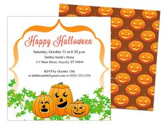 october halloween party invitation template