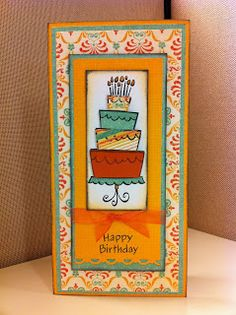 Stuck on Glue Crafts: Happy Birthday Card using Lawn Fawn Stamps