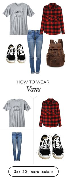 """SO true"" by carlisleaubrey on Polyvore featuring Vans and Current/Elliott"
