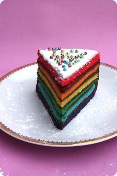 rainbow cake .  pour les 2 ans de ma fille ?