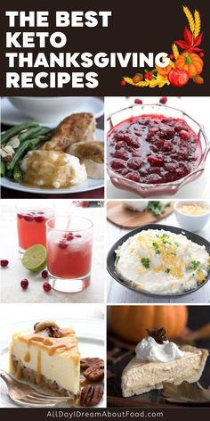 The ultimate collection of keto Thanksgiving recipes! A full meal plan including drinks, appetizers, sides, and desserts. You can enjoy all your old favorites without blowing your keto diet. Free Keto Recipes, Low Carb Recipes, Good Healthy Recipes, Thanksgiving Recipes, Holiday Recipes, Fall Recipes, Fall Dishes, Holiday Baking, Other Recipes