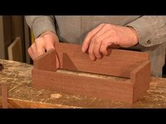 Dovetail Caddy (part 1 of 5) - Woodworking project with Paul Sellers - YouTube