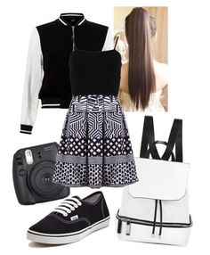 """Out Down Town"" by soccerbeast15 on Polyvore featuring New Look, COSTUME NATIONAL, FRACOMINA and Vans"