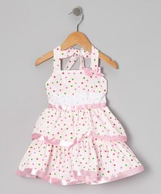 This Pink Polka Dot Halter Dress - Toddler & Girls by Lele for Kids is perfect! #zulilyfinds