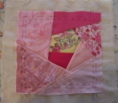 Honey Bee's Bliss: How To Create a Crazy Quilt Block