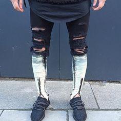 Resultado de imagen para leg zip jean men