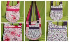 """Sacs Be-Bop taille """"original' et taille """"small"""" cousus par Fany - Patron de couture Sacôtin www.sacotin.com"""