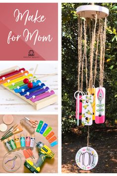Use the keys of a children's xylophone to make a pretty wind chime! 💝Your Mom will love this gift. Our blog has detailed directions to make this project a breeze. Diy Gifts For Mom, Diy Mothers Day Gifts, Great Gifts, Diy Craft Projects, Diy Crafts, Make Wind Chimes, Decoupage Wood, Perfect Mother's Day Gift, Mother's Day Diy