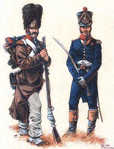 French; 48th Line Infantry Regiment, Grenadier Sergeant & Grenadier Officer by Pavel Alekhin