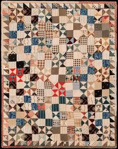 Small vintage doll quilt.