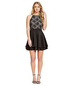Dillards Honey and Rosie High Neck Lace Bodice Dress Item #04627765 $69