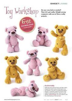 Cute crochet bear (link to pdf pattern).