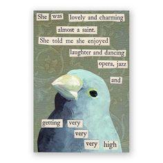 Saint Magnet  Bird  Humor  Jazz  Opera  Weed by MincingMockingbird