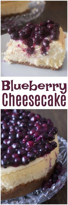 Blueberry Cheesecake Recipe | Easy Desserts | Simple Cheesecake with Berries | New York Cheesecake | Holiday Desserts | Thanksgiving Dessert Recipes