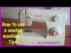 got ANY questions on how to use a sewing machine? this will answer most of your questions :) check out my video ;)  http://youtube.com/craftyamy93