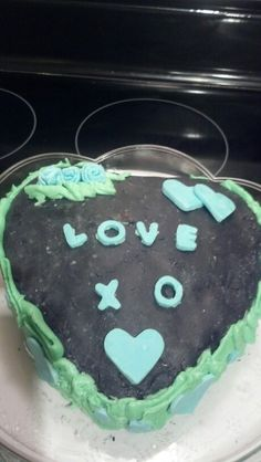 Marble Heart Cake with Fondant and Buttercream Frosting