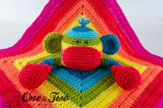 Combo Pack Rainbow Sock Monkey Lovey and by oneandtwocompany