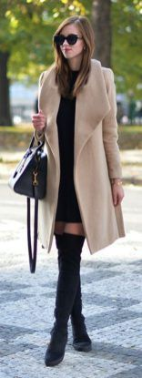 Inspiring skirt and boots combinations for fall and winter outfits 6