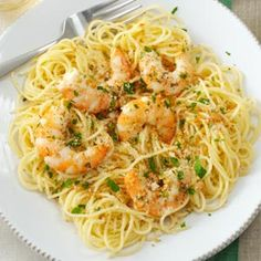 Shrimp Scampi--> Will be making this again! Because I didn't have an ovenproof skillet, I just fished out the shrimp after they cooked in the oil and butter (until barely pink), sprinkled them with the breadcrumbs, etc., then stuck them under the broiler like, that... Not ideal, but worked out fine :). -kn