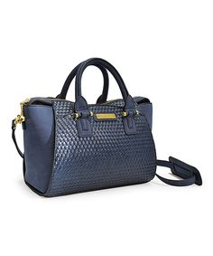 Take a look at this Adrienne Vittadini Navy Windsor Woven Mini Tote today! c3e71aac4e581