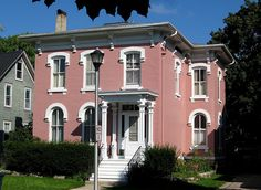Pink Italianate House