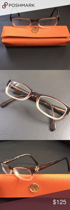 Tory Burch glasses frames TY2003 Tory Burch glasses frames TY2003. Classy, brown to cream ombré frames with a gold Tory Burch emblem on the side. Original case included. Excellent condition. No scratches or dings. Tory Burch Accessories Glasses