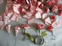 Paper flower tutorial - roses, orchids, sweet peas, poppies and lilies