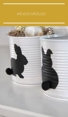 🌟Tante S!fr@ loves this📌🌟 Hoppy Easter, Easter Bunny, Easter Eggs, Tin Can Crafts, Diy And Crafts, Crafts For Kids, Tin Can Art, Diy Ostern, Creation Deco