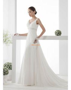 Kirche Chiffon Reißverschluss Brautkleider 2014