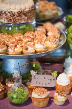 Bourbon Pecan Cupcakes / Izzy Hudgins Photography