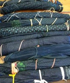 Indigo block printed vintage  skirts #indigo #parna