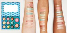 swatches of the new BHcosmetics 'wild & alluring' palette. #makeup #beauty