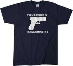 Majoring In Triggernometry T shirt Gun Tee 2nd Amendment Tee These t-shirts are super soft preshrunk 100% cotton tees for comfort and durability so they are true to size. ★★★WANT ...