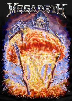Vic Rattlehead (Megadeth) Heavy Metal Rock, Heavy Metal Music, Heavy Metal Bands, Metallica, Woodstock, Hard Rock, Rock Bands, Megadeth Albums, Vic Rattlehead