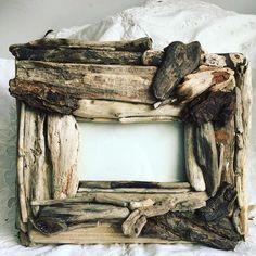 Handmade Driftwood Photo Frame 6 x 4 | Etsy Burlap Bows, Burlap Wreath, Storm Lantern, Uk Beaches, Driftwood, Wood Art, Jute, Picture Frames, Craft Supplies