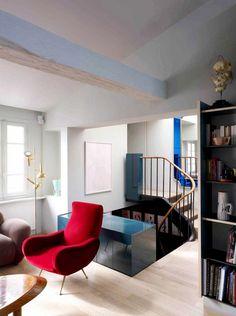 Tour a Colorfully Modern Paris Flat via @domainehome