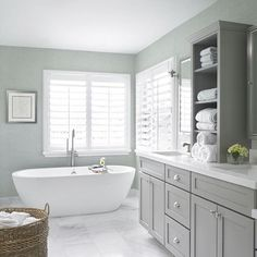 """66 Likes, 9 Comments - Nicola- Perth decorating (@roundededgestyle) on Instagram: """"Serious bathroom envy here! So simple and clean in beautiful shades of grey and white. Design by…"""""""