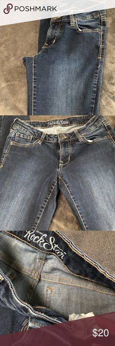 Rock Starr skinnys Nice pair of Rock star skinny's bye old navy...size is 8! These are a darker pair of skinnys in perfect shape no wear any wear! rock star old navy Jeans Skinny