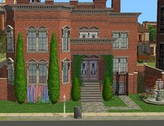 "ilikefishfood: "" Flemming's Hope My recently shared townhouse, Walcott's Way has had such positive feedback, I thought I'd re-post a couple of my older ones in case anyone's interested. This townhouse. Sims 2 House, Old Ones, Townhouse, Positive Feedback, Sims 3, Mansions, House Styles, Houses, Couple"
