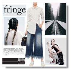 """""""Fringe"""" by hellodollface ❤ liked on Polyvore featuring MSGM and fringe"""
