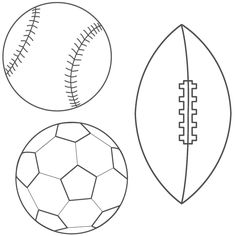 Baseball Football Soccer Ball Coloring Page